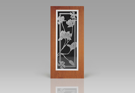 Etched & Carved Glass garage doors